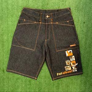 (NWOT) FUBU Platinum Fat Albert Embroidered shorts